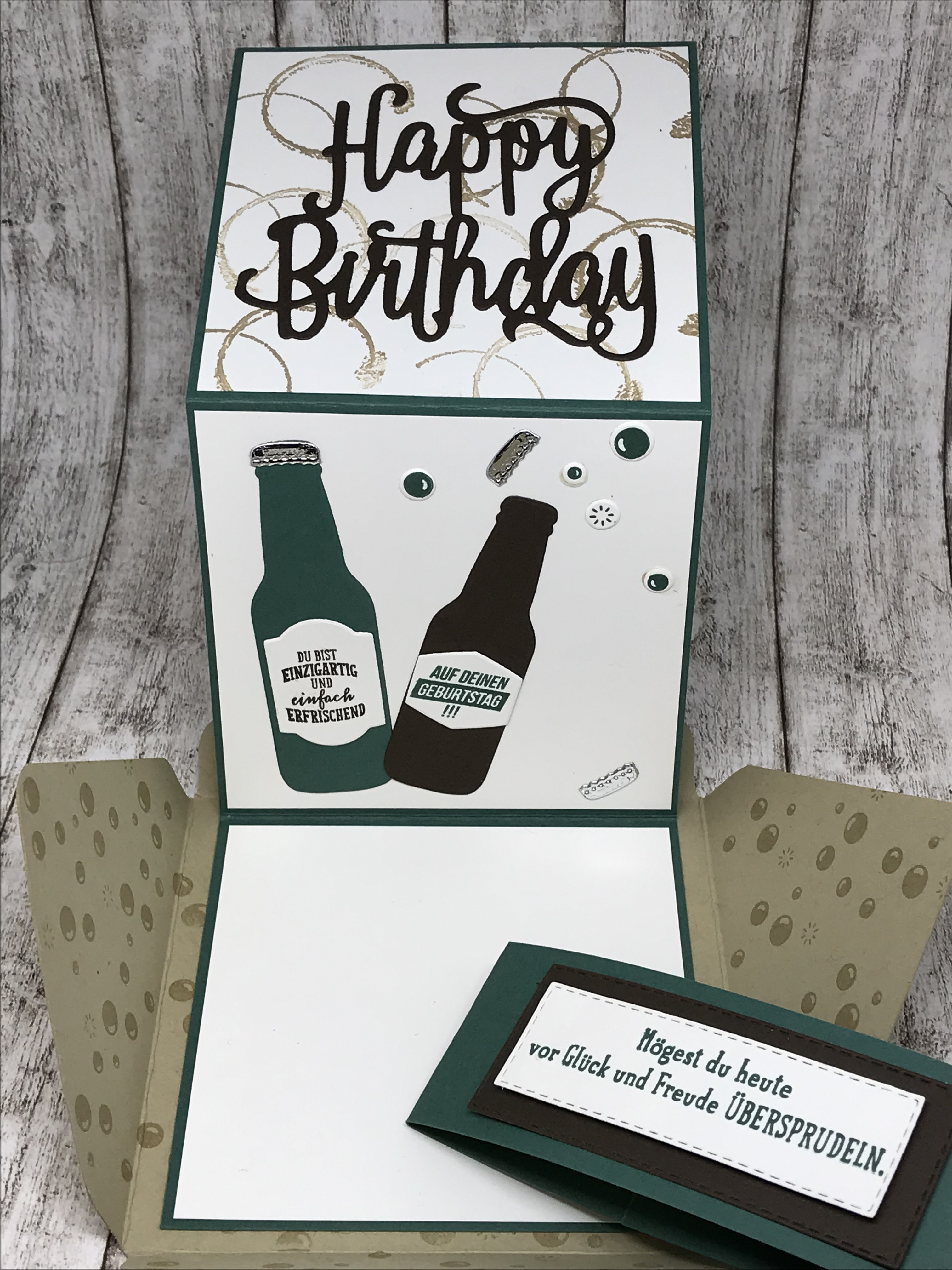 Umschlagkarte Happy Birthday